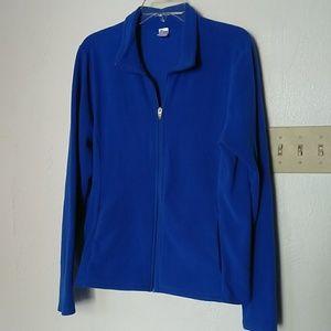 Old Navy sapphire blue fleece top, sz L